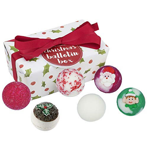 Bomb Cosmetics Christmas Ballotin Handmade Bath Melt Wrapped Gift Pack, 240g from Bomb Cosmetics