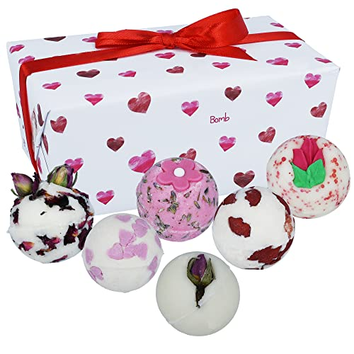 Bomb Cosmetics Little Box of Love Handmade Bath Melts Ballotin Gift Pack [Contains 6-Pieces], 240 g from Bomb Cosmetics