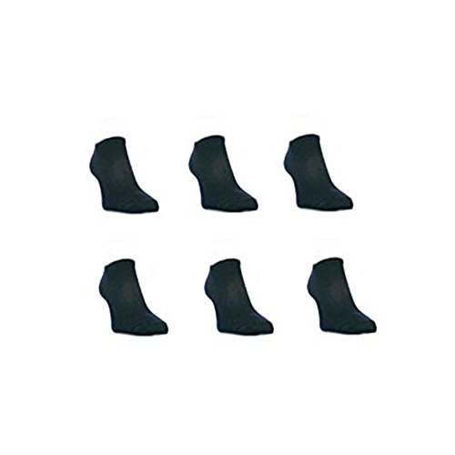 12 Pairs Mens Sport Performance Trainer Low cut Socks - Size 6 - 11 (Black) from Bonjour