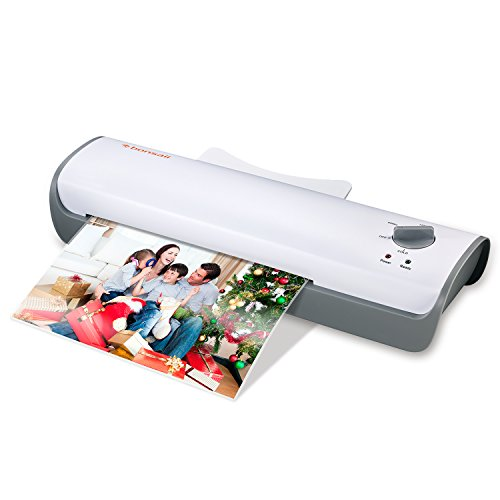 Bonsaii A4 Laminator, Thermal and Cold Laminating Machine with 3-min Quick Warm-up, Max 228mm (A4 Size) for Documents, Photos, Cards with Jam-Release Switch (L407-A) from Bonsaii