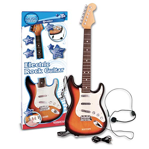 Bontempi Bontempi241310 Electric Guitar with Headeset Micro with Conn.Mp3, Multi-Colors from Bontempi