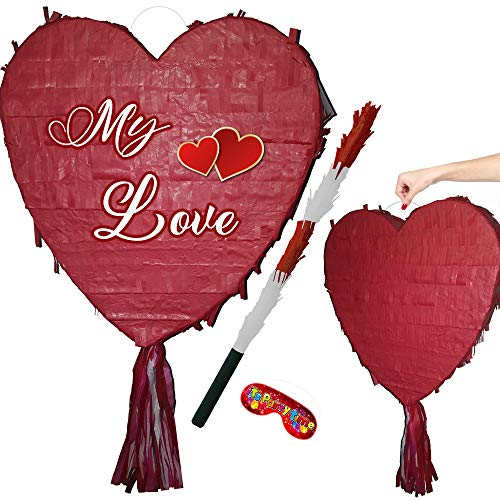Heart Pinata for Wedding, Engagement or Birthday Party from Boogie Woogie Pinatas