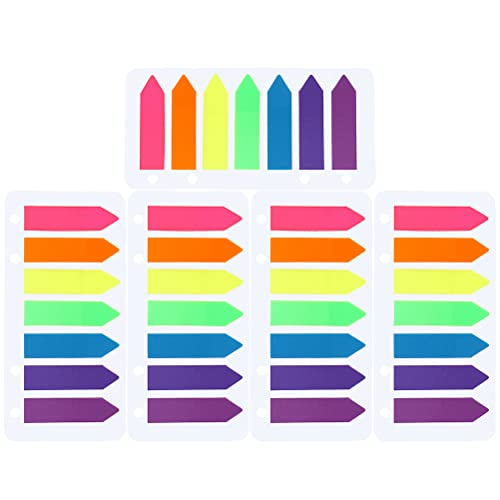 Page Markers Arrow, Borte 5*140Pcs Arrow Highlighters Arrow Fluorescent Sticky Notes Writable Page Markers Multicolor from Borte