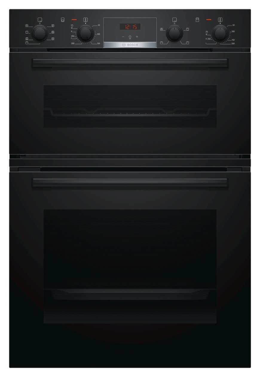 Bosch MBS533BB0B 59.4cm Double Oven Electric Cooker - Black from Bosch