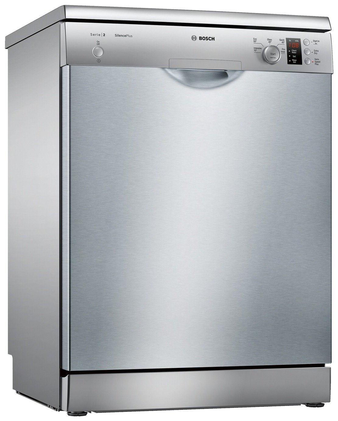Bosch SMS25AI00G Full Size Dishwasher - Silver & Installation from Bosch