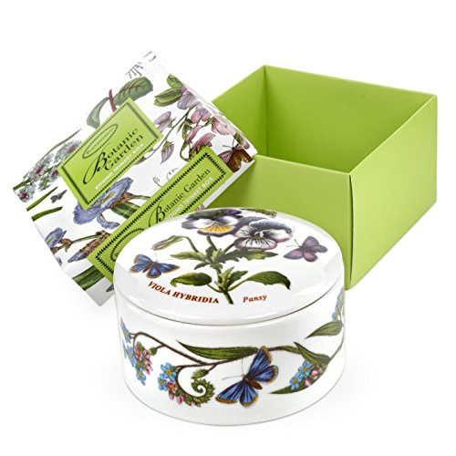 Portmeirion Home & Gifts Round Trinket Box, Porcelain, Multi-Colour, 9.5 x 9.5 x 4.5 cm from Portmeirion Home & Gifts