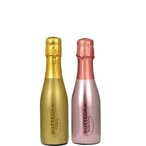 Bottega Prosecco Gold and Sparkling Rose Wine 2 Bottle Set 20cl Bottles - Ideal as Presents and Special occasions from Bottega S.p.A.