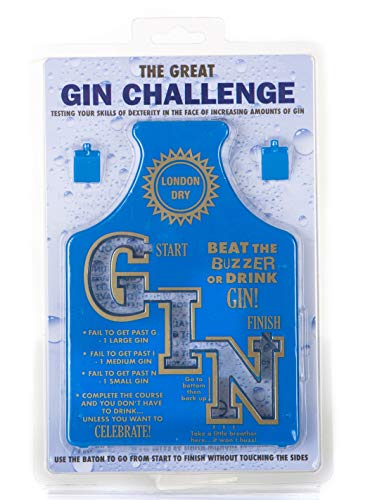 Boxer Gifts GA4104 Gin Challenge Adults Drinking Game | Beat The Buzzer Or Do a Forfeit | for Parties, Hen Night and Fresher's Week from Boxer Gifts