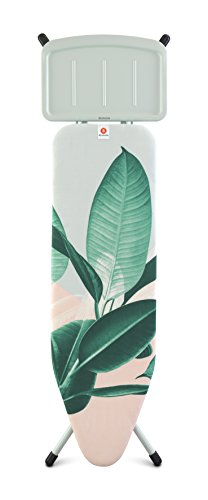 Brabantia Ironing Board B, Solid Steam Unit Holder, Mint Frame, Steel, Tropical Leaves, 48.5 x 7 x 160.5 cm from Brabantia