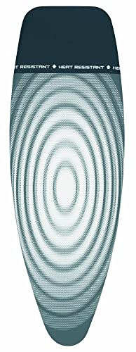 Brabantia 266782 Tital Oval Ironing Board Cover with Parking Zone, L 135 x W 45 cm, Size D from Brabantia