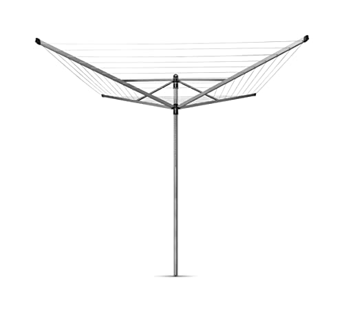 Brabantia Lift-O-Matic Rotary Clothes Line with Ground Anchor and Protective Case, 50 m from Brabantia