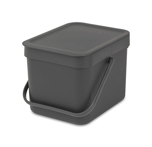 Brabantia Sort and Go Food Waste Caddy, Plastic, 6 L - Grey from Brabantia