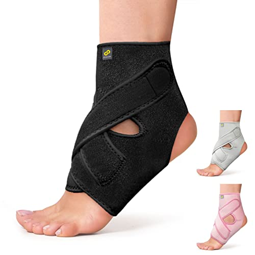 Bracoo Ankle Support Brace with Open Heel – Breathable Latex-Free Neoprene Sleeve Provides Chronic Arthritic Pain Relief, Acute Sports Injury Rehabilitation & Protection against Reinjury – Unisex from Bracoo