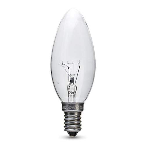 10x 40W Clear Candle Ball Bulb (SES Base) 240V - FREE POSTAGE + PACKAGING from Branded