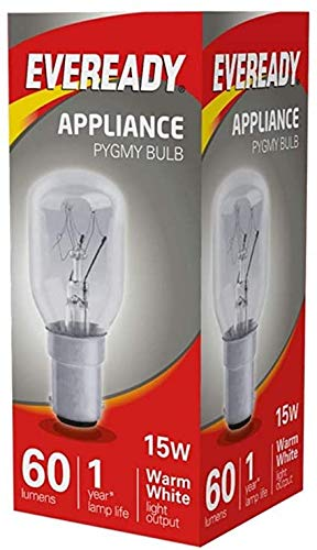 10x Eveready 15W Pygmy Bulb Appliance Lamp SBC(B15) - from Branded