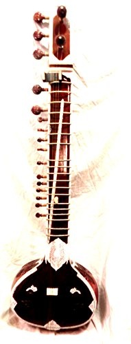 INDIAN MAHARAJA Ravi Shankar Style Sitar - Half Decorated with Fibre Box from Brass-India