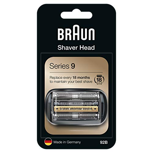 Braun 92B Series 9 Electric Shaver Replacement Foil and Cassette Cartridge - Black from Braun