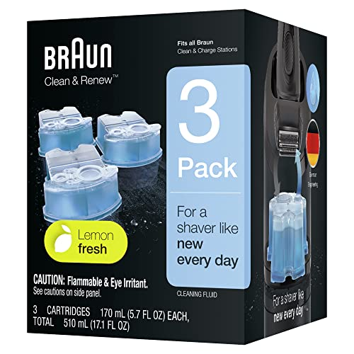Braun CCR Clean and Renew Refill Cartridges, Lemon Fresh Formula, 3 Pack from Braun
