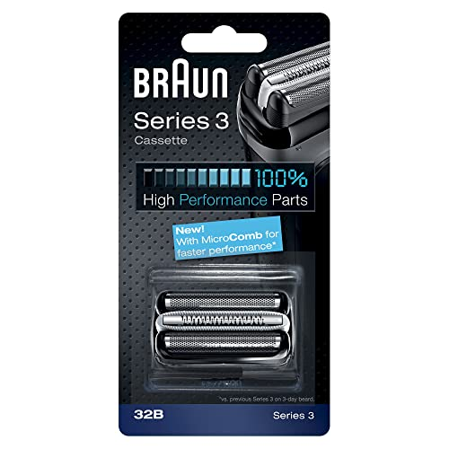 Braun Series 3 Electric Shaver Replacement Foil Cartridge, 32B - Black from Braun