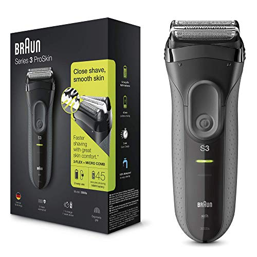 Braun Series 3 ProSkin 3000s Electric Shaver/Rechargeable Electric Razor - Black from Braun