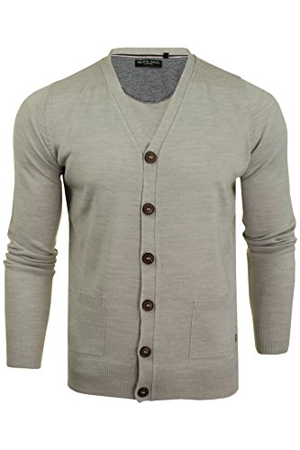 Brave Soul Mens Cardigan Button Through by (Mid Ecru Marl) S from Brave Soul