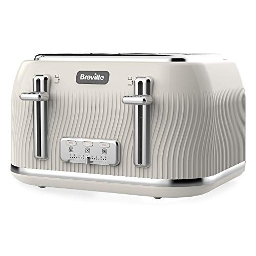 Breville Flow 4-Slice Toaster with High-Lift and Wide Slots | Camden Clay [VTT891] from Breville