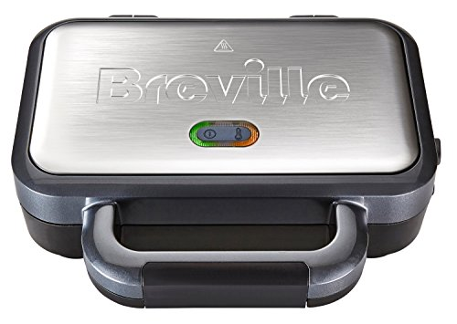 Breville Deep Fill Sandwich Toaster and Toastie Maker with Removable Plates, Non-Stick, Stainless Steel [VST041] from Breville