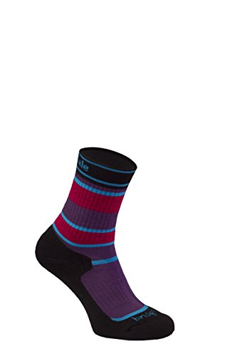 Bridgedale Kids' Merinofusion Hiker Junior Socks, Purple, 1-3 from Bridgedale