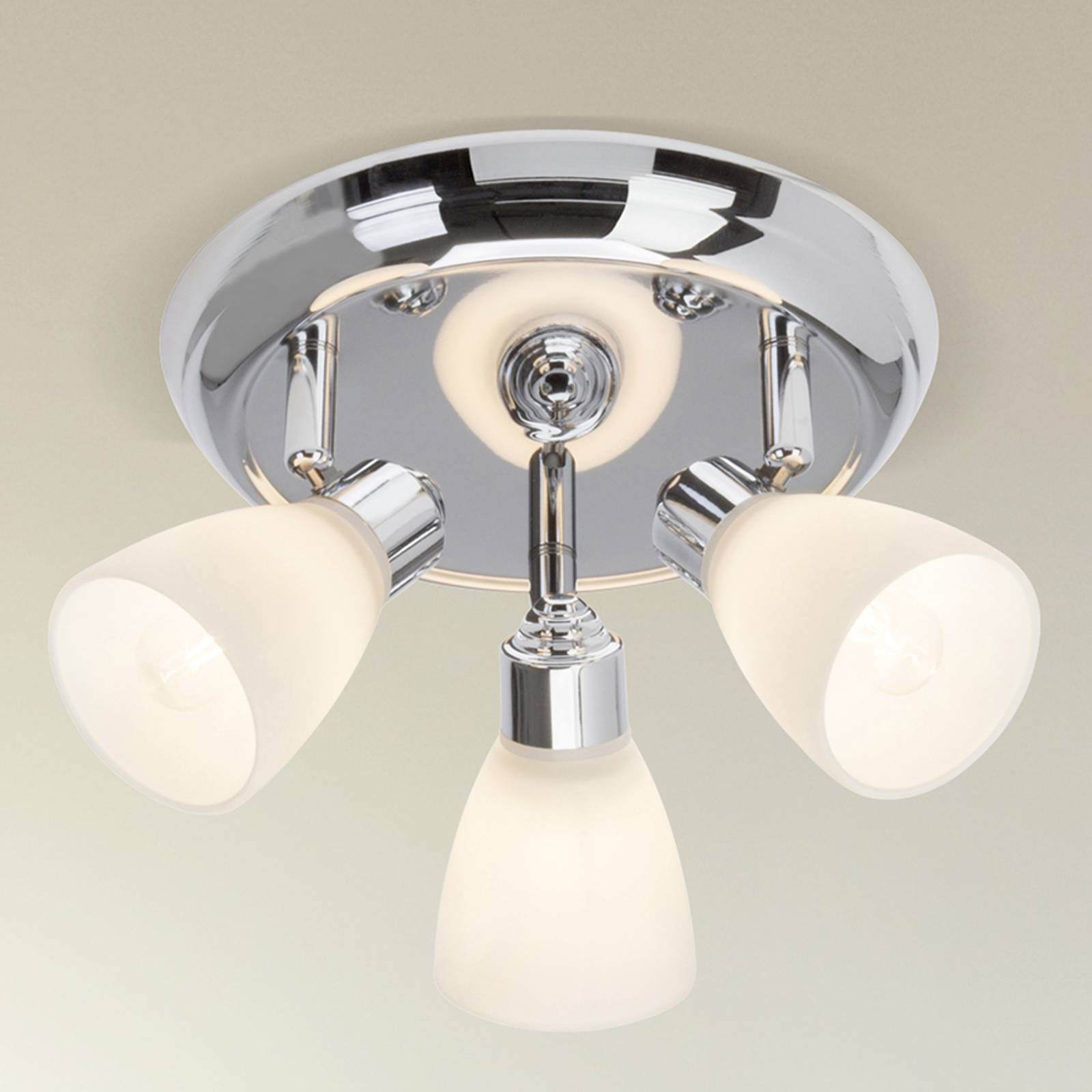 Kensington 3-bulb circular ceiling spotlight from Brilliant