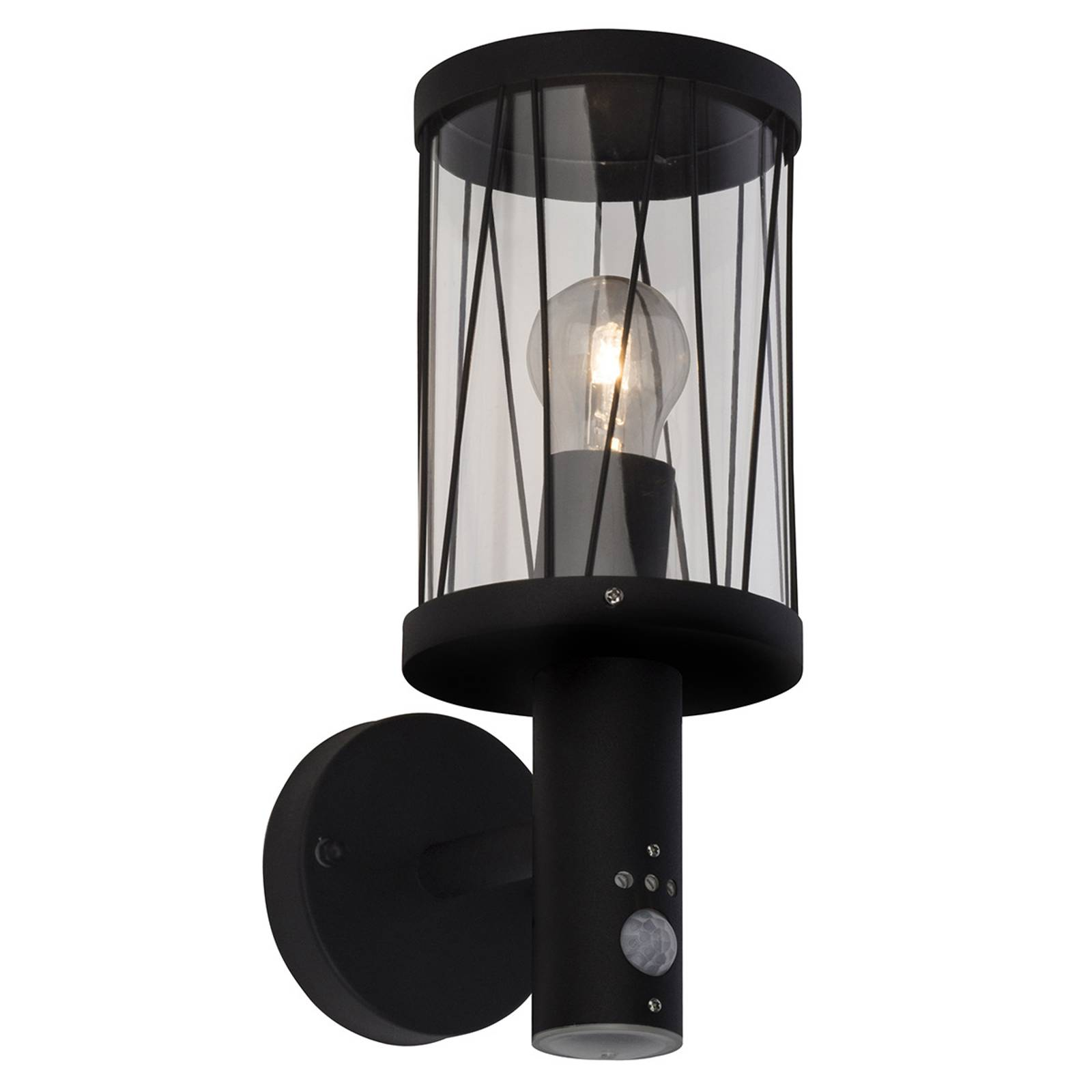 Outdoor wall lamp Reed with motion detector from Brilliant