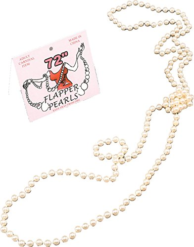 "72"" Long Pearl Necklace for 1920s Flapper Fancy Dress from Bristol Novelties"