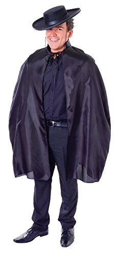 Bristol Novelty AC107 Bandit Cape with Collar Costume, One Size from Bristol Novelties