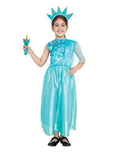 Bristol Novelty CF050 Liberty Girl Costume, Medium, 122 - 134 cm, Approx Age 5 - 7 Years, Liberty Girl (M) from Bristol Novelty