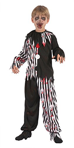 Bristol Novelty Harlequin Clown Bloody Costume (L) Childs Age 7 - 9 Years from Bristol Novelties