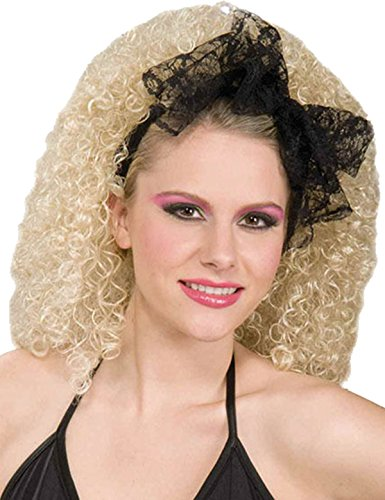 Christmas Madonna Desperately Seeking Susan 80s Fancy Lacey Hair Scarf Black from Bristol Novelties