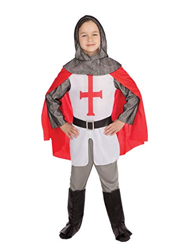 Bristol Novelty CC788 Crusader Boy Costume, Multi-Colour, Age 4-6 Years Old from Bristol Novelty