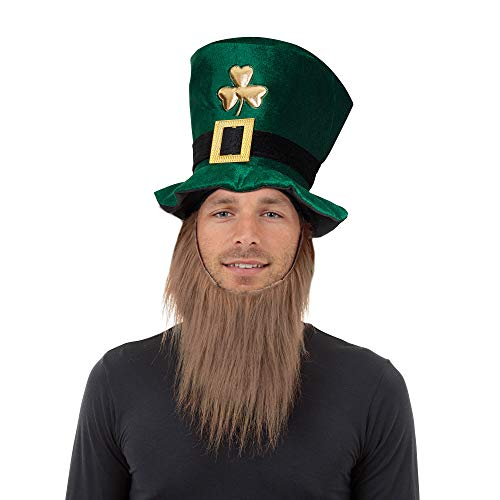 Bristol Novelty BH474 Irish Hat and Beard, Unisex-Adult, Green, One Size from Bristol Novelty