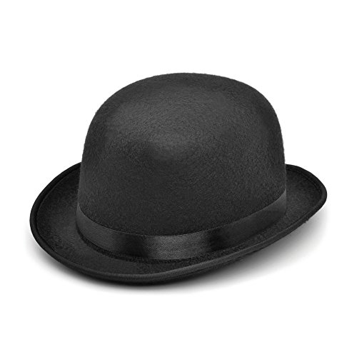 Felt Bowler's Hat in Black-S from Bristol Novelty