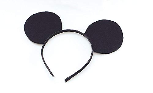 Henbrandt MD104 Mouse Ears on Headband , Black , One Size from HENBRANDT