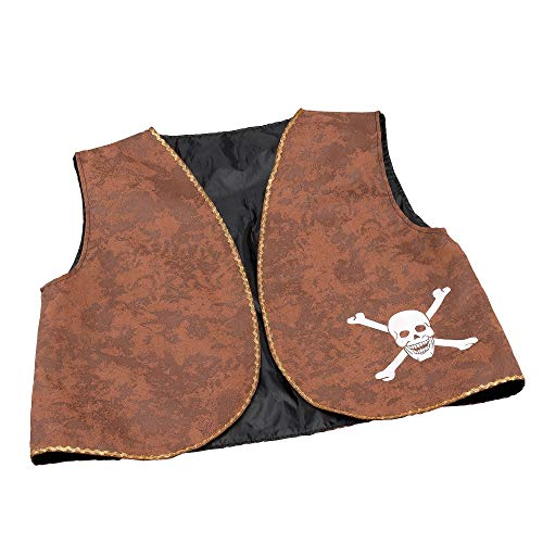 NEW BROWN DISTRESSED PIRATE WAISTCOAT FANCY DRESS from Bristol Novelties