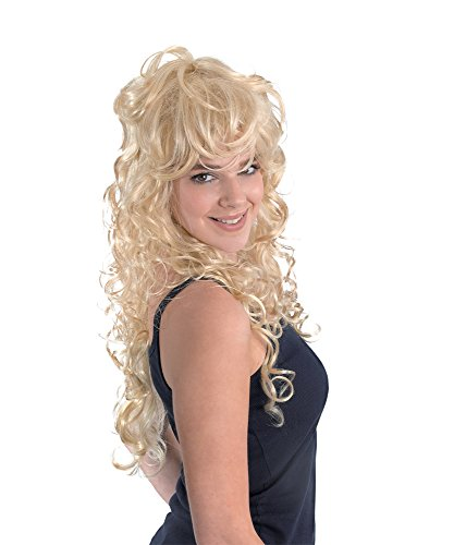 Bristol Novelty BW656 Blonde Rock Chick Wig, Yellow, One Size from Bristol Novelties