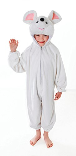 Bristol Novelty CC033 Mouse Costume, White, Age 6-8 Years Old from Bristol Novelty