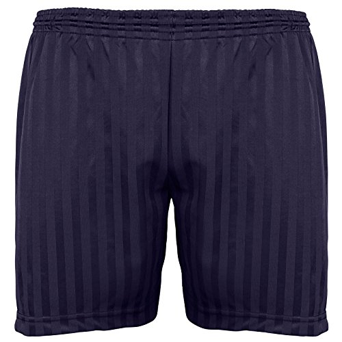 Britwear Kids Children Boy Girl PE School Football Sport Shade Stripe Gym Shorts Colour:Navy Size:3-4 Years from Britwear