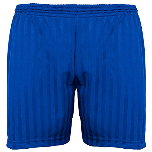 Britwear Kids Children Boy Girl PE School Football Sport Shade Stripe Gym Shorts Colour:Royal Blue Size:7-8 Years from Britwear