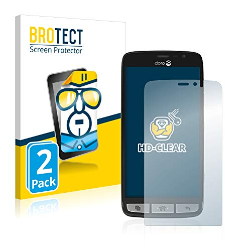 brotect 2x Screen Protector compatible with Doro 8030 - HD-Clear Protection Film from brotect