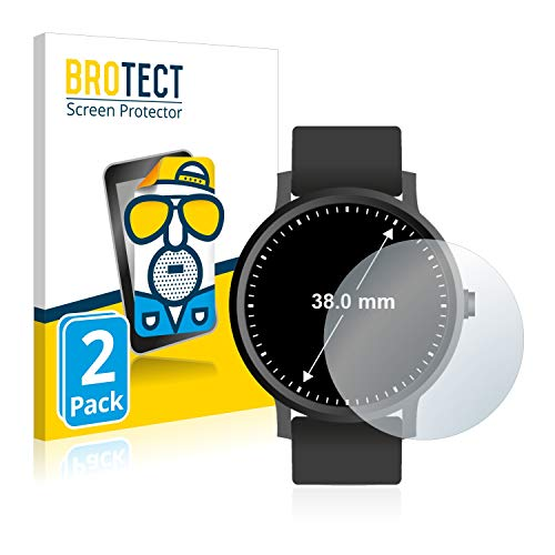 BROTECT Screen Protector Matte Watches (Circular, Diameter: 38 mm) Protection Film [2 Pack] - Anti-Glare, Anti-Reflex, Anti-Fingerprint from BROTECT