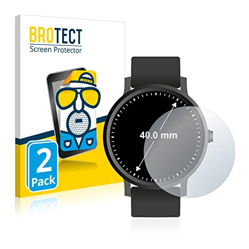 BROTECT Screen Protector Matte Watches (Circular, Diameter: 40mm) Protection Film [2 Pack] - Anti-Glare, Anti-Reflex, Anti-Fingerprint from BROTECT