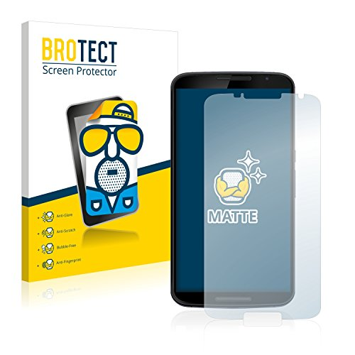brotect 2-Pack Screen Protector Anti-Glare compatible with Motorola Nexus 6 Screen Protector Matte, Anti-Fingerprint Protection Film from brotect