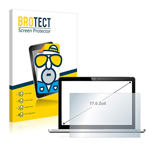 brotect Screen Protector Anti-Glare for Laptops with 43.2 cm (17 inch) [338 mm x 270 mm, 5:4] Matte, Anti-Fingerprint Protection Film from brotect