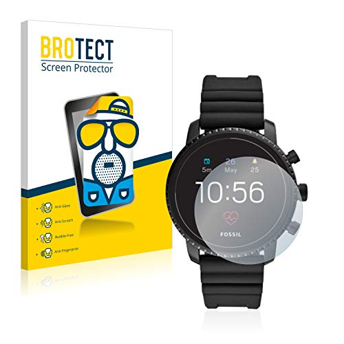 brotect 2-Pack Screen Protector Anti-Glare compatible with Fossil Q Explorist HR (4.Gen) Screen Protector Matte, Anti-Fingerprint Protection Film from brotect